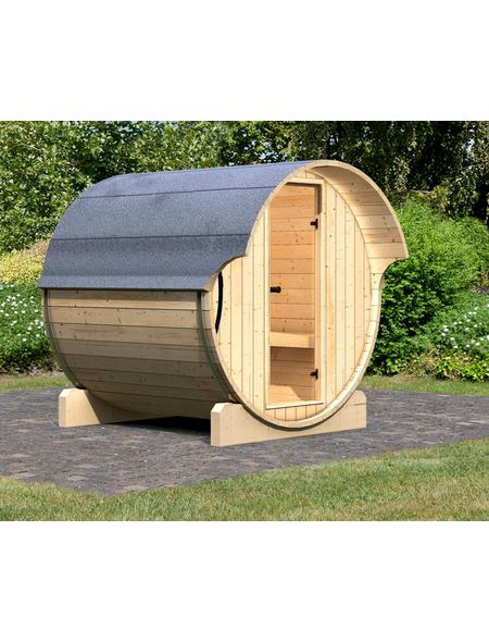karibu fasssauna pontus 1 fasssauna. Black Bedroom Furniture Sets. Home Design Ideas