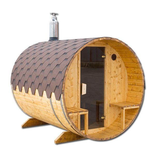 baltresto fasssauna mit au ensitzplatz fasssauna saunafass. Black Bedroom Furniture Sets. Home Design Ideas